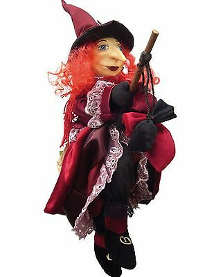 Lucinda Witch Of Pendle Halloween Doll Red From Uk Nwt!