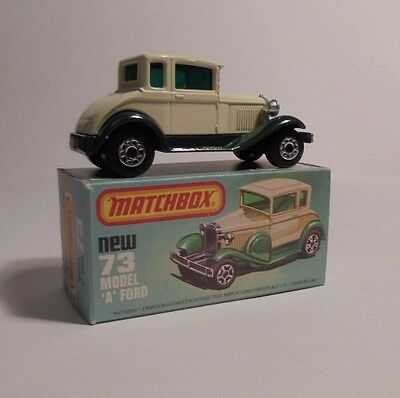 Matchbox 75 Superfast No. 73 - Model A Ford 1979 ( LESNEY) BOXED/VNM