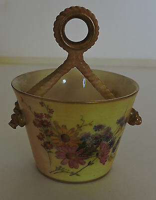 Royal Worcester Pail with Faux Rope Handle