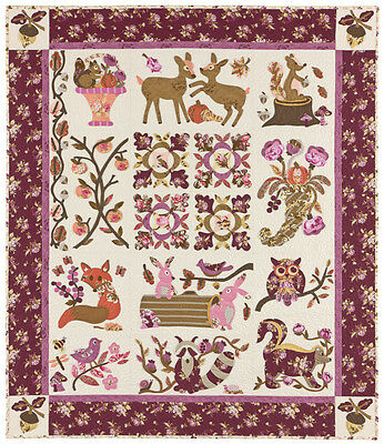 HIDDEN FOREST QUILT PATTERN, BOM Applique From The Vintage Spool NEW