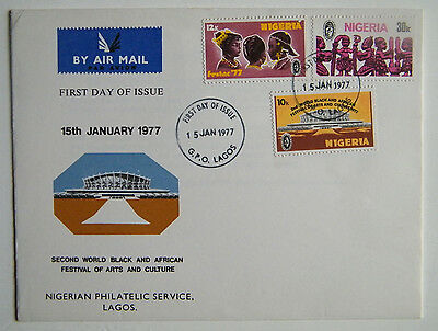 Nigeria First Day Cover Stamps Black African Arts and Culture Festival 1977
