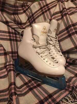 JACKSON MYSTIQUE ICE SKATES - Size UK 3 & 1/2 Great Condition With Bag & Covers
