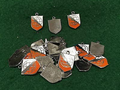 Lot of 25 1970's Vintage US Army Communications Command Charms