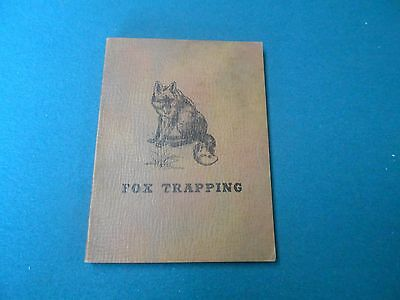 Fox Trapping By Harding, Traps