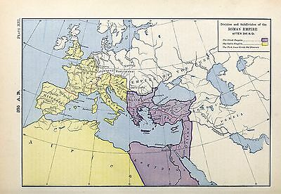 1905 map Division Roman Empire after 395 AD Labberton 21