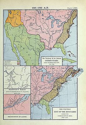 1905 map Territory Present United States during French-Indian Wars Country 63