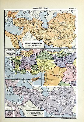 1905 maps Persian Empire Greatest Extent retreat XENOPHON Alexander Great 11