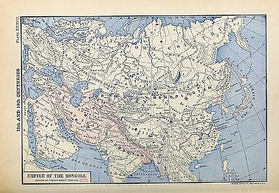 1905 map Empire Mongols Empire Timour about 1410 AD Labberton 37