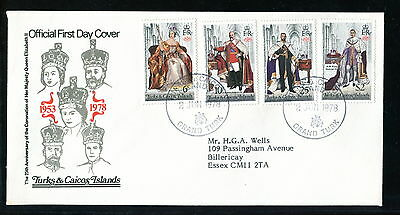 1978 Turks & Caicos Islands FDC. Silver Jubilee Queen Elizabeth. First Day Cover