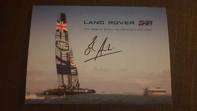 Signed Sir Ben Ainslie Pic Charity Auction Most Successful Olympic Sailor Gold