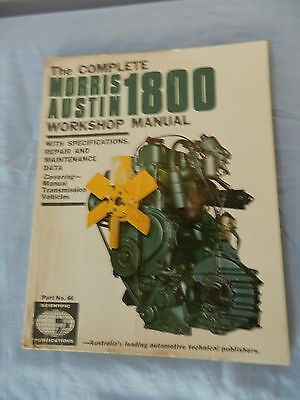 Austin 1800 Work Shop Manual