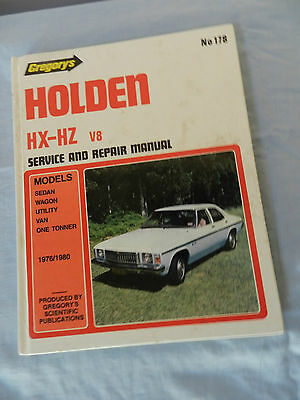 HX HZ V8 Holden Workshop Manual