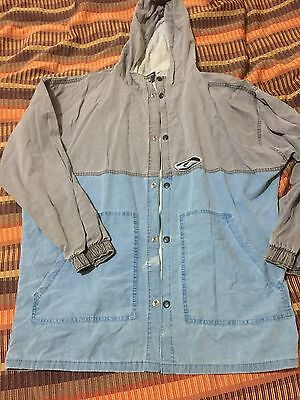 Vintage Men's Quicksilver Jacket Hoodie Small Few Marks See Pics Cotton