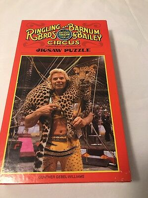 Ringling Brothers & Barnum Bailey Jigsaw Puzzle Gunther Gebel Williams