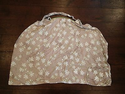 Boppy Nursing Cover Taupe, Brown, Green Floral Pattern EUC