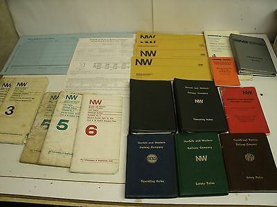 LARGE Lot of Norfolk and Western / N&S Railroad : Timetables, Rules, Report note