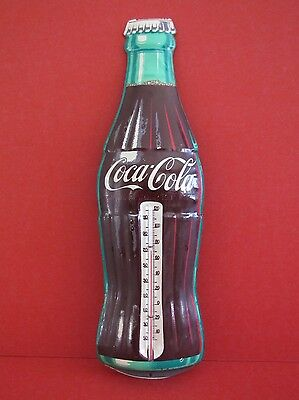 """1950's Tin 17"""" Robertson Coca Cola Thermometer - Very Good, Working Condition"""