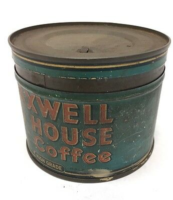 Vintage Maxwell House Coffee Tin / Can
