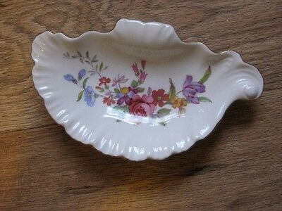 Pretty Staffordshire bone china soap dish in Floral design