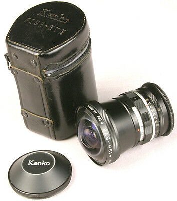 KENKO FISH EYE 0.16X Lens 180 degrees 52mm Ring - with Case and Cap