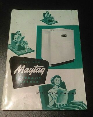 Vintage Maytag Amp Automatic Washer Instruction Book **look**