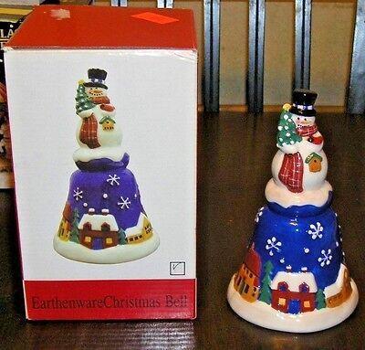 Madison & Max At Home Christmas Snowman Earthenware Bell