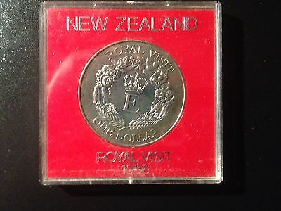 1986 'royal Visit' New Zealand $1.00 Uncirculated Coin-Cased