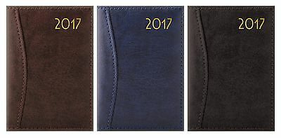 2017 Diary D-Range Leatherette Week To View Pocket/slimline/a5/a4