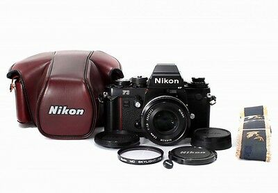 Beautiful Nikon F3HP SLR Film Camera w/Ais NIKKOR 50mm F/1.8 ,Case from Japan