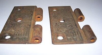 Antique Vintage Victorian Door Hinge With Design 3 1/2 Tall