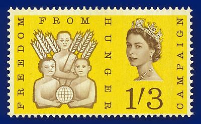 1963 SG635p 1s3d Freedom from Hunger MNH Unmounted Mint Cat £30 AEWO