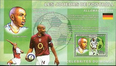 Football Players Thierry Henry De Luxe s/s Congo DR 2006 #CDR0611d