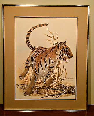 """Signed And Numbered Limited Edition """"bengal Tiger' By John Ruthven"""