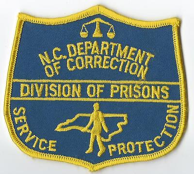 North Carolina Department Of Correction Division Of Prisons Patch