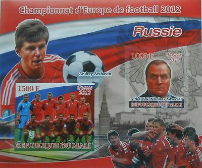Football Team 2012 Russia A. Arshavin D. N. Advocaat Mali s/s IMPERF #P235