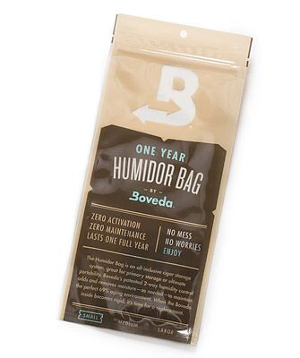 BOVEDA 69% One Year Travel HUMIDOR BAG Small - Holds 5 Cigars