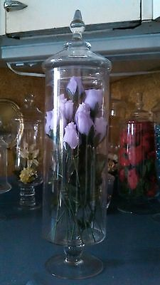 """VINTAGE 20"""" GLASS APOTHECARY JAR - Drugstore Candy Display - Terrarium Canister"""