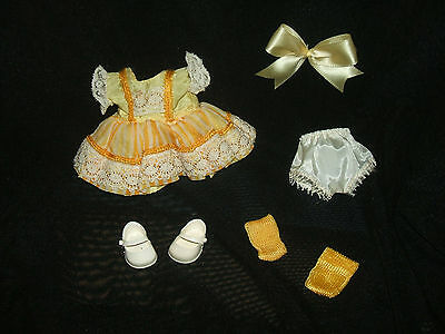 1956 Muffie Doll - #654 Pinafore Styles Outfit - Nancy Ann ~ Vgc