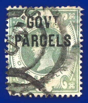 """1890 SG O68 1s Dull Green -  Type 7 """"Govt Parcels"""" Used South Western DO AAVF"""