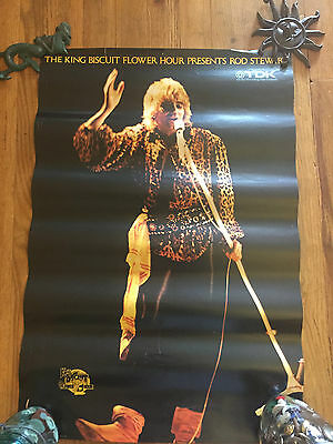 Rod Stewart 1979 poster King Biscuit Super awesome Mod the Rod