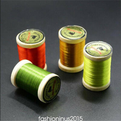 Uni Waxed 8/0 Thread - 250yd Spool Fly Tying 75 Denier 15 Colors Lures Materials