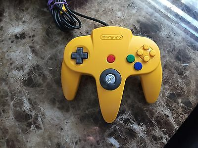 Official Yellow Nintendo 64 N64 OEM Controller