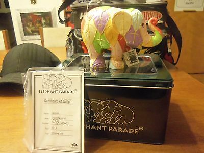 Westland-Elephant Parade Leaves 2014 New In Tin Box #486 Out Of 10000