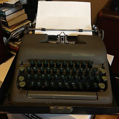 Vintage Smith Corona STERLING Manual Typewriter with Box Case