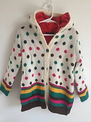 NWT French Boutique Baby Girl Fleece Lined Sweater Coat Hoodie 2T Polka Dot Gift