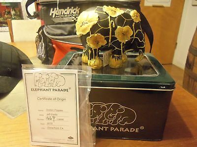 Westland-Elephant Parade Golden Poppies 2013 New In Tin Box #1381 Out Of 10000