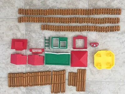 Lot Of Authentic Original Lincoln Logs Wooden Building Toys