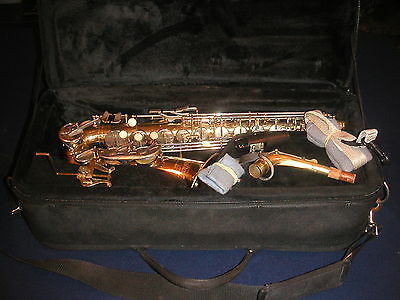 ARMSTRONG ALTO SAXOPHONE with PROTEC CASE -SERVICED & READY TO PLAY -DEMO VIDEO