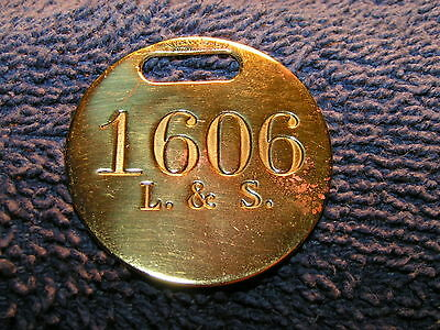 Central Railroad of New Jersey L&S Brass Tool or Time Check #1606
