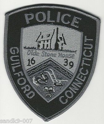SWAT Subdued Guilford Police State of CONNECTICUT CT Shoulder Patch SRT